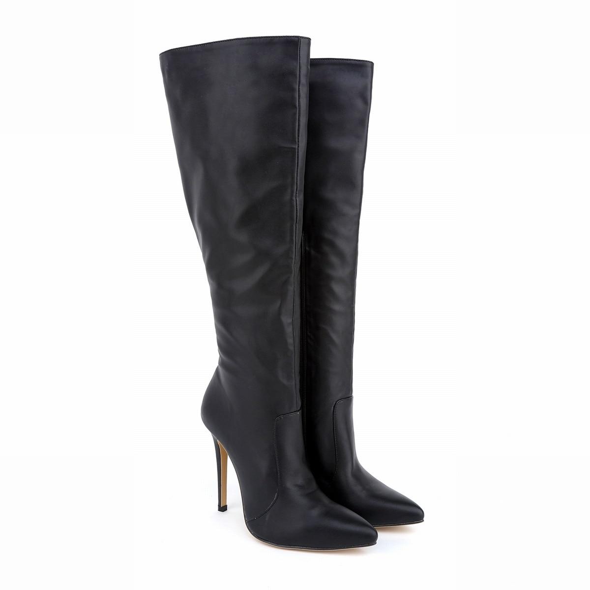 Online Get Cheap Leather Knee High Boots Wide Calf -Aliexpress.com ...