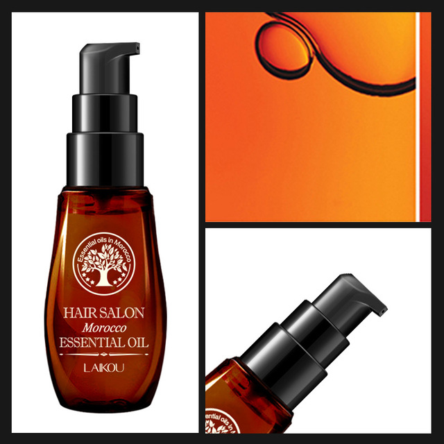 ¡Caliente! Cuidado del cabello aceite de argán puro marroquí aceite esencial para el cabello seco tipos de cabello multifuncional y tratamientos de cuero cabelludo TSLM1