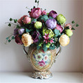 [12 flor heads] Árvore Paeonia Suffruticosa Peony Bouquet de Seda Flowe