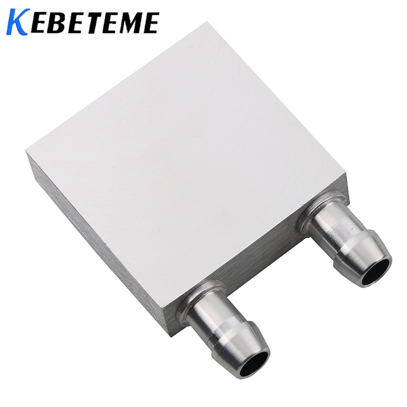 KEBETEME 40*40mm Primary Aluminum Water Cooling Block For Liquid Water Cooler Heat Sink System 40*80mm For PC Laptop CPU