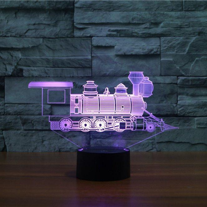 3D LED Light Illusion свет лампы поезд 3D акрил LED 7 цветов ночник сенсорный настольные лампы подарок
