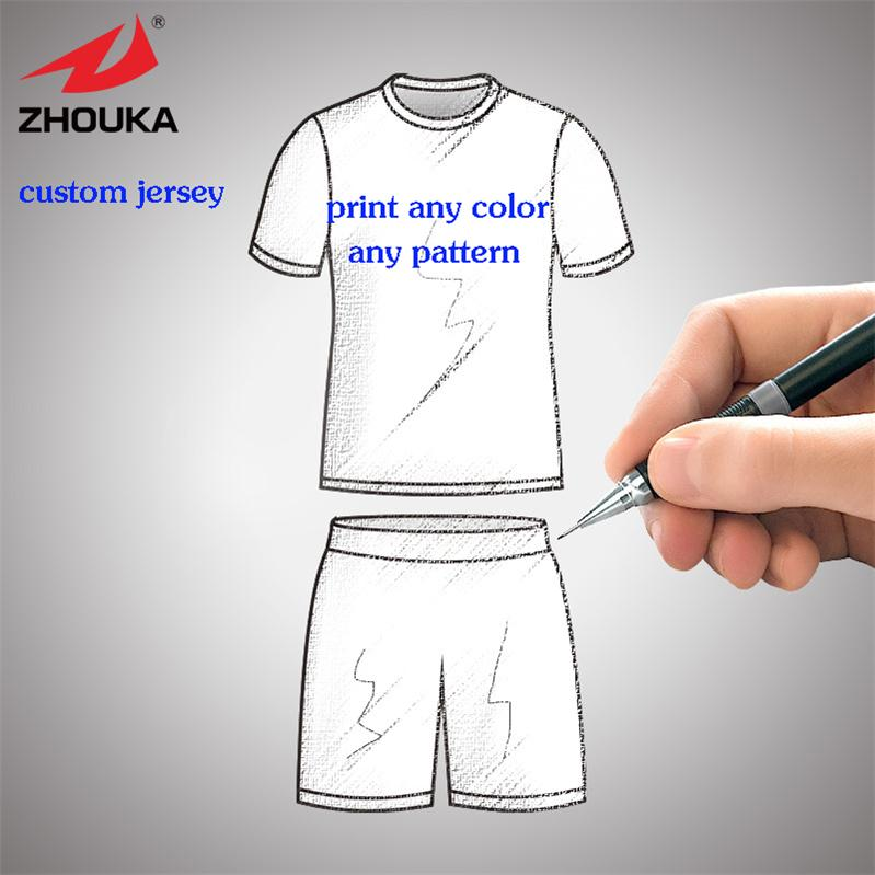 custom sublimation football jersey,voetbal shirts wholesale price,any color pattern can be customized camisa s de futebol