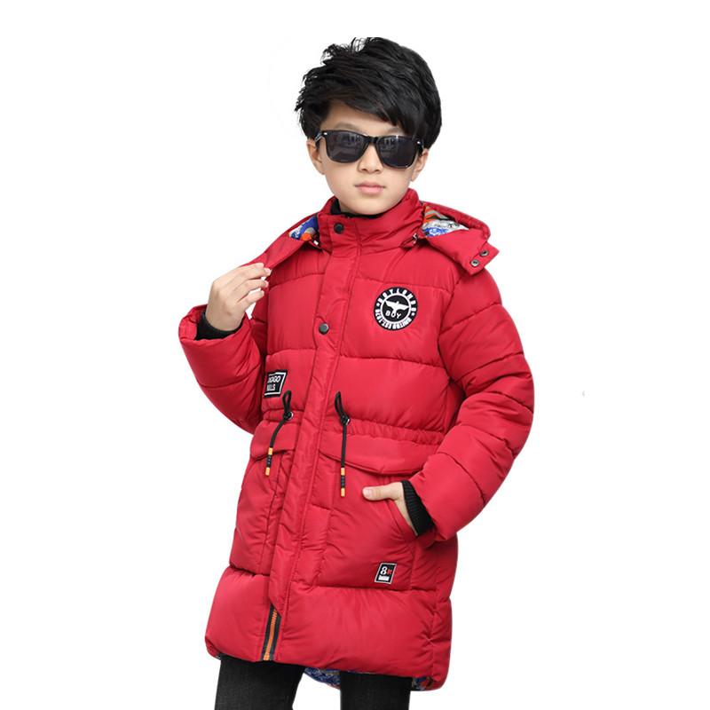 Boys Jackets 2018 Winter Fashion Jacket Boys Kids Warm Hooded Cotton Coats Children Outerwear Coat Boys Casual Clothes 2016 new warm children winter ski suits jackets for boys fleece coats fashion jacket for girls boys hooded kids outerwear coat