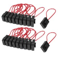 WSFS Hot Sale 30A Wire In-line Fuse Holder Block Black Red for Car Boat Truck 20pcs