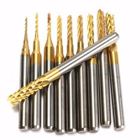 10Pcs Box 1 8 0 8 3 175mm PCB Drill Bit Engraving End Mill Milling Cutter