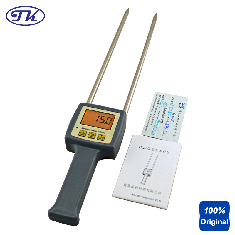 Portable Moisture Tester Packed Grains Barley Corn Hay Oats Rapeseed Rough Rice Sorghum Soybeans Wheat Food Moisture Meter TK25G multifunctional grain moisture meter ms g test for barley corn hay oats rapeseed rough rice sorghum soybeans and wheat