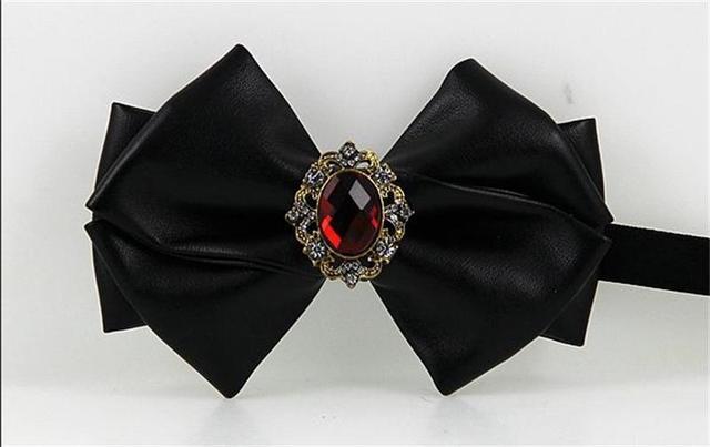 Melhor pedra preciosa diamante gravata borboleta laços gravatas borboleta PU evening festa de casamento noivo acessórios cinto ajustável