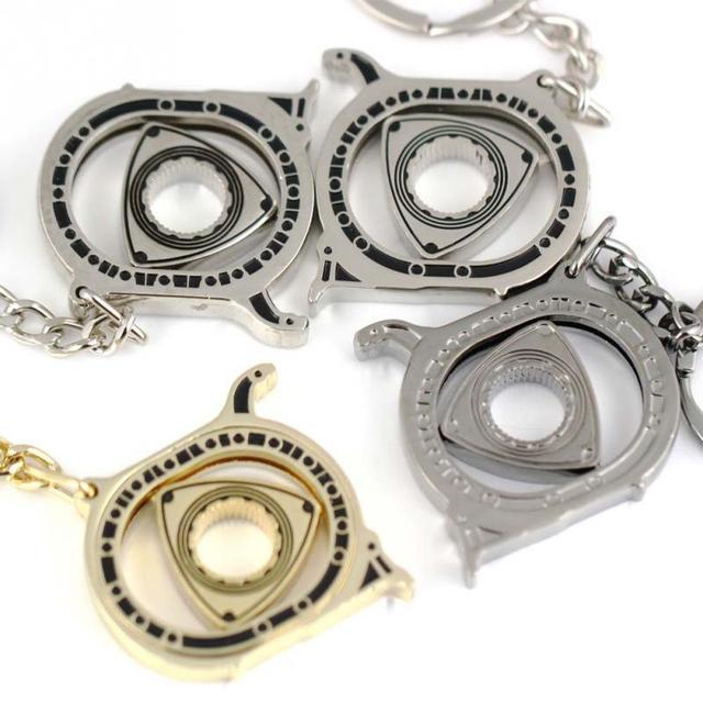 Spinning Rotor Keychain