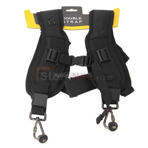 Double Camera Shoulder Neck Sling Quick Strap + Fasten Adapter 1/4 Tiny Screw for A35 A100 A350 A700 A900 D3100 D3200 60D 5D