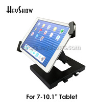 New Ipad Display Stand Clamp Adjustable Tablet Security Enclosure Claw Flexible Holder Gripper Lock With keys For 7 10 Tablet