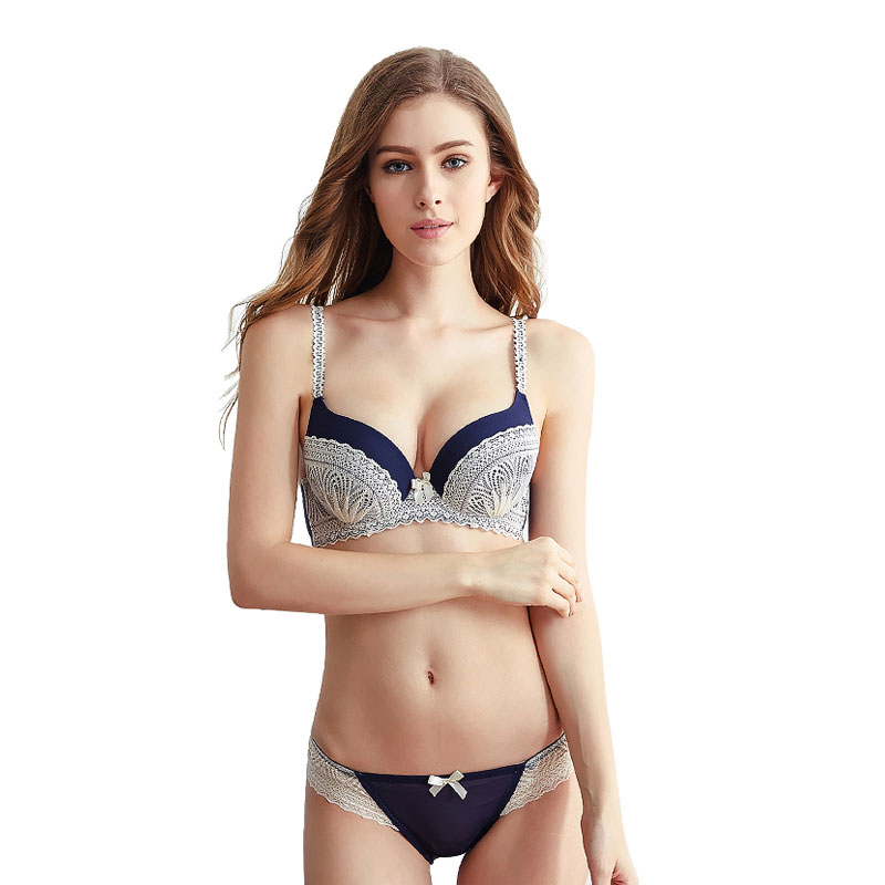 CINOON Brands Sexy Underwear   Set   Push up bralette Sexy Lace lingerie sexy slim skinny   bra     brief     sets   3/4 Cup lingerie female   set