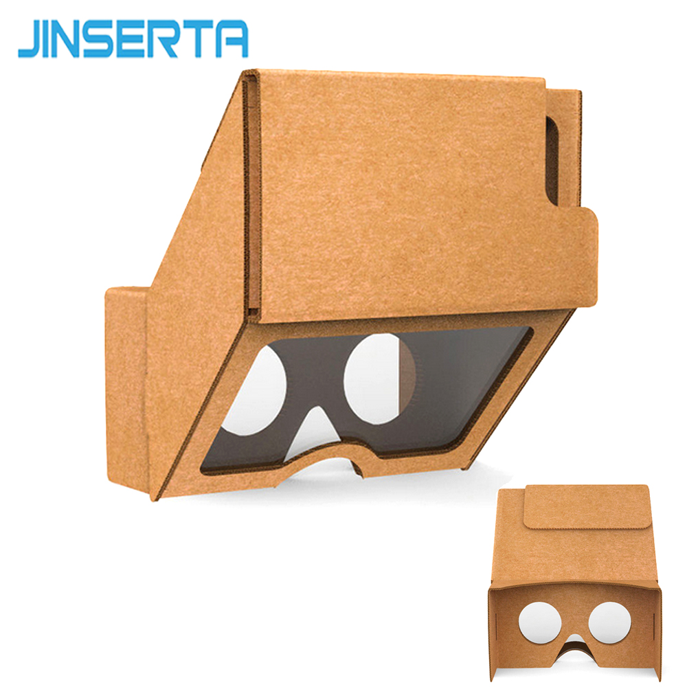 JINSERTA VR Cardboard Glasses Google Cardboard 3.0 Virtual Reality AR Enhanced Holographic Glasses for iPhone 7 Plus/7/6