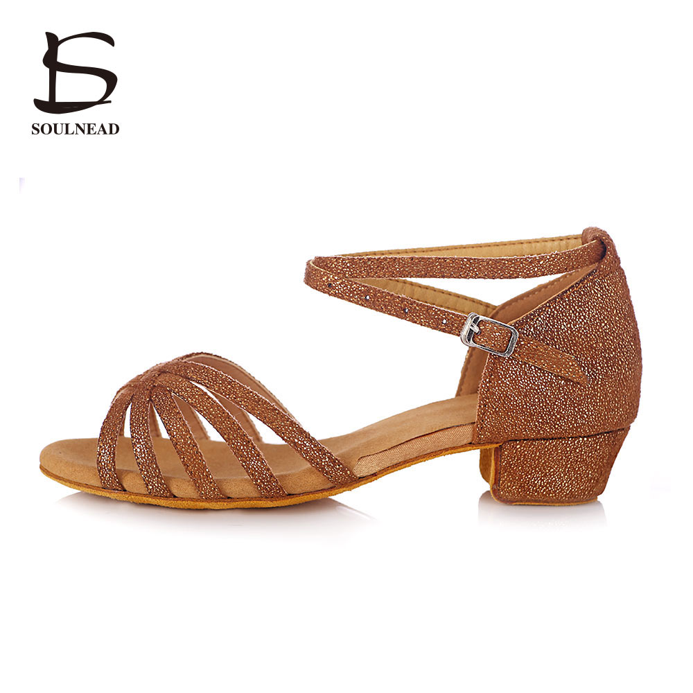 Promotion De Haute Qualité Tango Brand New Latine Chaussures De Danse Pour Enfants Filles Femmes Enfants Dames Salle De Bal Danse Chaussures Filles 3.5 cm