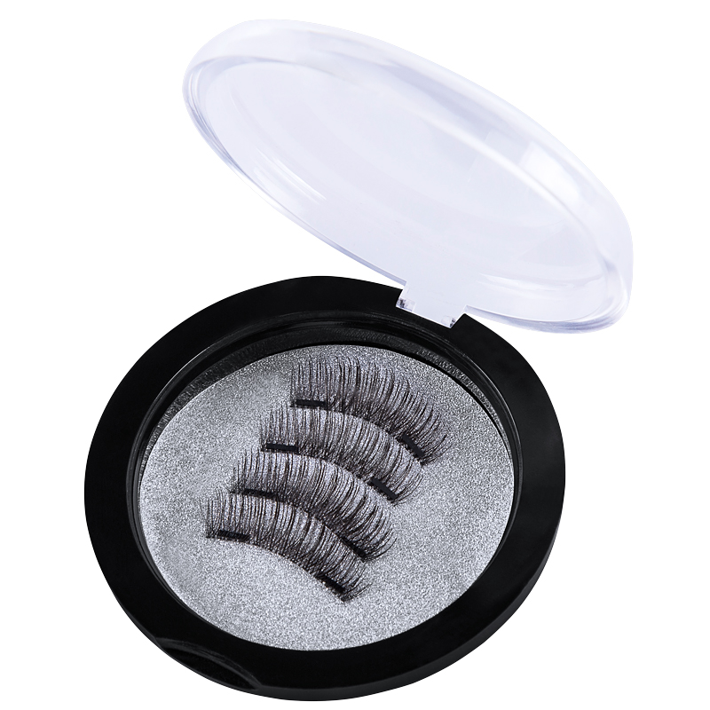 HUAPAN 4pcs/set Magnetic eyelashes Fake eyelash magnets EyeLashes 3D/6D lashes natural false eyelashes makeup Extension Hot Sell