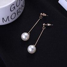 pearl fringe earrings temperament earrings long fashion drop earrings Jewelry stylish faux pearl fringe earrings