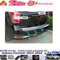 Su6aru Forester 2013-2016 car body styling cover detector stainless steel Rear door bottom Tailgate frame plate trim lamp 1pcs