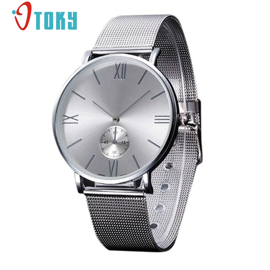 OTOKY Women Watches Luxury Silver Stainless Steel Mesh band Wristwatch Quartz-Watch for relogio feminino #10 Gift 1pcs skone fashion simple watches for women lady quartz wristwatch stainless steel band watch for woman relogio femininos