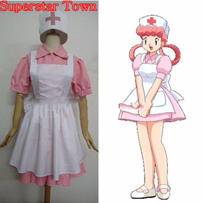Nurse Joy Cosplay Pocket Monsters Costume Full Set Anime Halloween Dress Uniform Disfrace Carnav Superstar Town