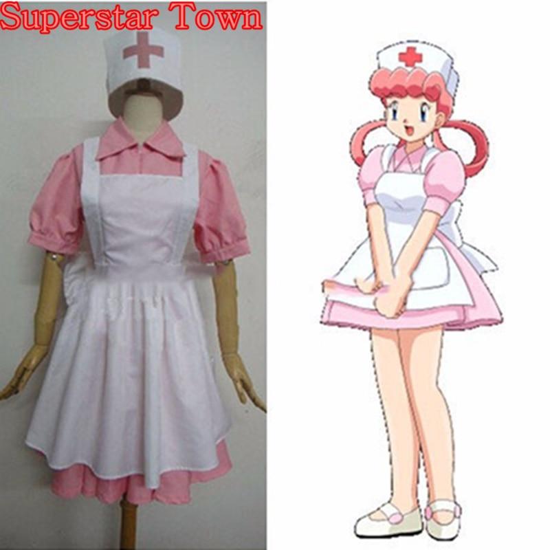 Infirmière joie Cosplay poche monstres Costume ensemble complet Anime Halloween robe uniforme Disfrace Carnav Superstar ville