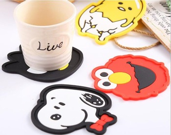 1Pc 2019 Silicone Dining Table Placemat Coaster Kitchen Accessories Mat Cup Bar Mug Cartoon Animal Owl Totoro Minions Drink Pads non slip bar rubber mat pvc pad coaster kitchen placemat bar rectangle mat cup mug set beer whiskey waterproof bar accessories
