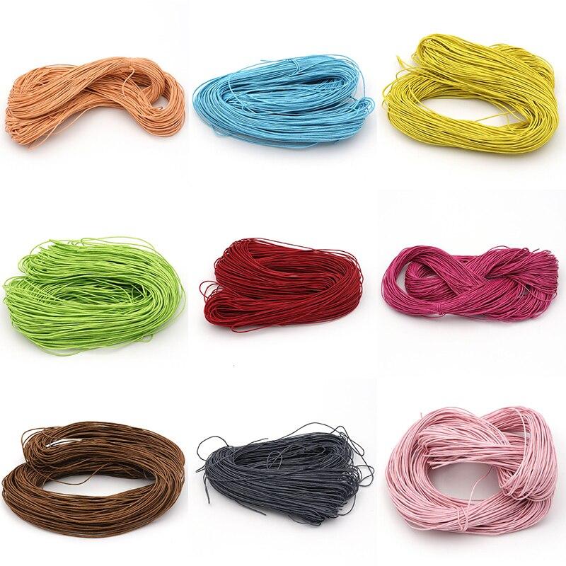 10 Meter 1mm Eingewachsene Baumwollschmuckfaden Seil Themen Für Making Armband Halskette Schmuck Dekorative Handwerk Zubehör