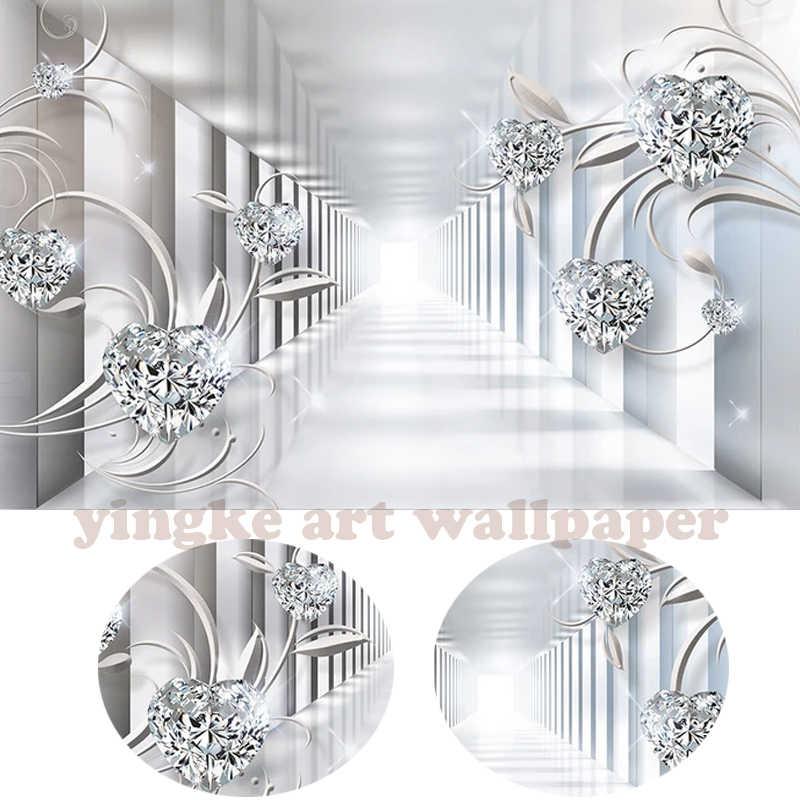3d papel de parede personalizado mural papel de parede não-tecido quarto papel de parede 3d abstrato 3d espaço Europa flor jewel flicker foto papel de parede para paredes 3d