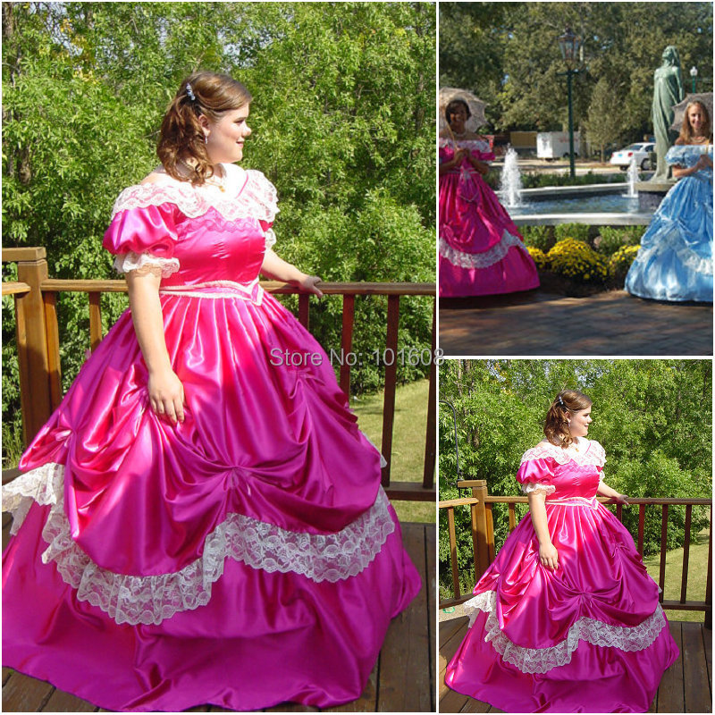 الفيكتوري مشد القوطية / الحرب الأهلية جنوب بيل الكرة ثوب ثوب هالوين فساتين الولايات المتحدة 4-16 R-233