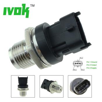 Wspólny czujnik ciśnienia paliwa dla Iveco EuroCargo człowiek Hocl LC lew S miasto NL NM TGL TGM TGS CASEIH 51574210229 0281002930 tanie i dobre opinie 0281002930 0 281 002 930 504333094 51274210233 21946209 55223142 4 8*2 8*2 8 Stainless Steel IVOK Fuel Rail Pressure Sensor