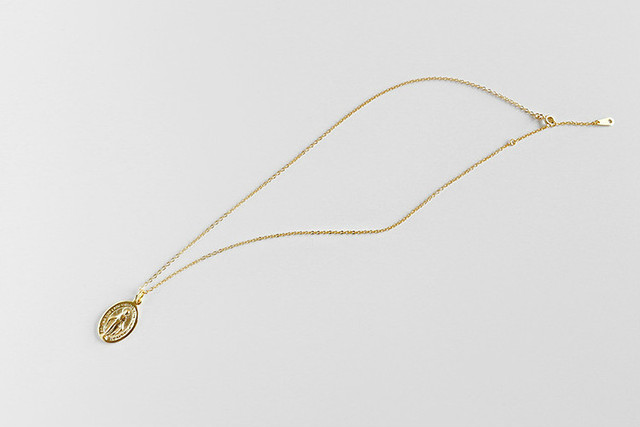 Женское ожерелье и кулон flyleaf с золотистыми бусинами Девы