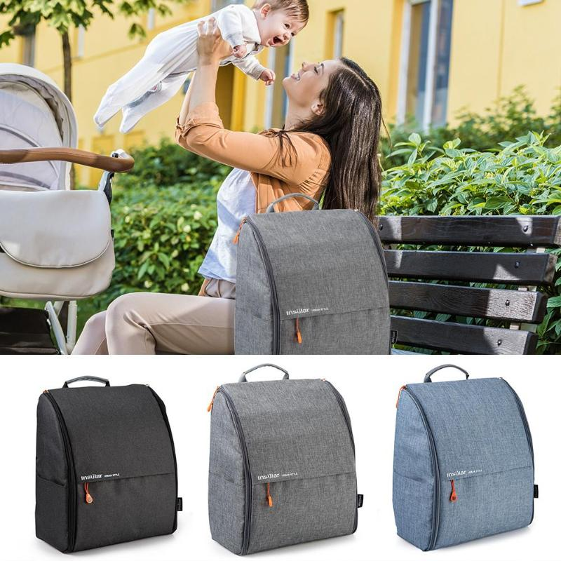 Insular Fashion Mummy Maternity Bag Set Multi-function Diaper Bag Backpack Nappy Baby Bag with Stroller Straps for Baby CareInsular Fashion Mummy Maternity Bag Set Multi-function Diaper Bag Backpack Nappy Baby Bag with Stroller Straps for Baby Care