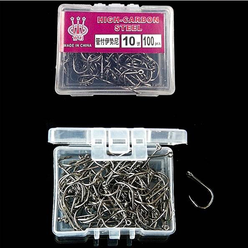 Black 100Pcs//box Assorted Fishing Bait Sharpened Hook Fishhook Carp Jig Lures C