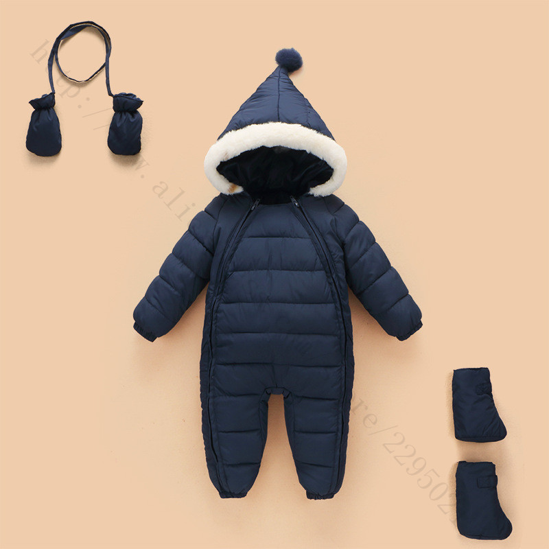 2016Newborn Baby Boy Clothes Winter Jumpsuits Baby Girl Rompers Long Sleeves Jacket Snow Wear Infant Snowsuits for Kids Clothes newborn baby clothes winter long sleeves with feet baby boy girl clothes babies overalls ropa de bebe infant product baby romper