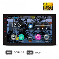Android 4 4 2 OS Car Radio 7 Inch 2din Capacitive Full Touch Screen 1080P GPS