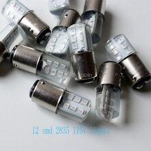 Тип 2835 12SMD Автомобильные тормоза поворота сигнальный светодиод 1157 ba15s sinicone лампочка