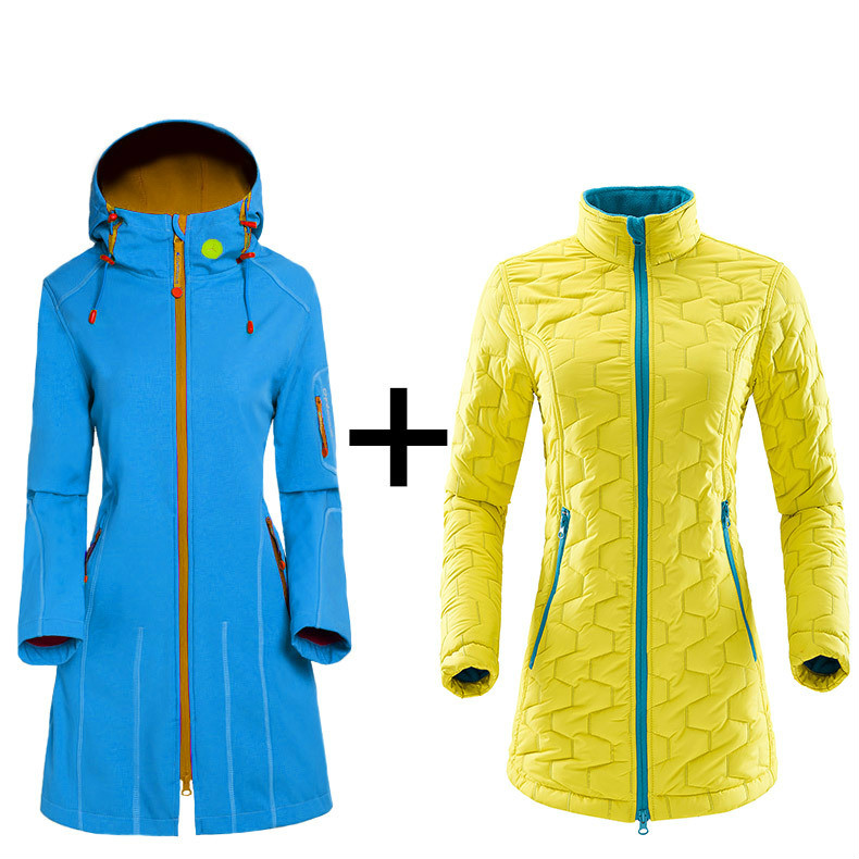 2018 Autumn And Winter New Women's Mountaineering Suits Outdoor Wear Suits Fleece Suits Soft Clothes Mountaineering Suits