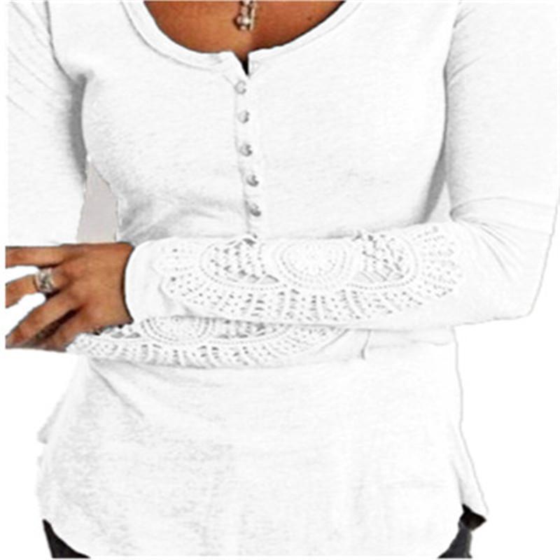HTB1SQdeLpXXXXbkXFXXq6xXFXXXR - Autumn Womens Style Lace Long Sleeve Hollow Solid