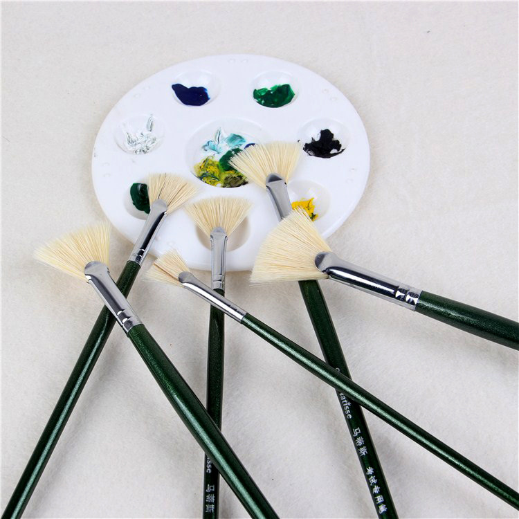 6 Pcs Painting Brushes Professional Wall Brush Bristle Paintbrush for Art faddy-1 Paint Brush Set 1 inch, 1.5 inch, 2 inch, 2.5 inch, 3 inch, 4 inch