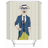 2017 New Custom 3d Shower Curtain Hipster Animal Pattern Waterproof Bathroom Liner Anti Mold High Quality