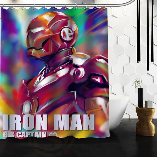 Custom Marvel Super Hero Shower Curtain Bathroom Products Creative Polyester Home Product