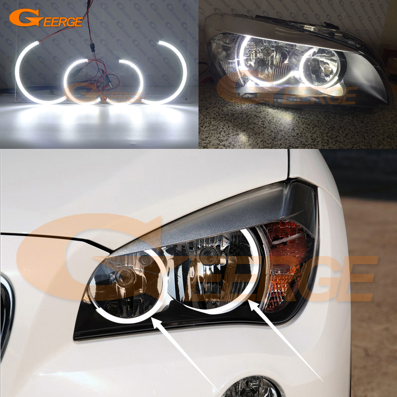 For BMW X1 E84 2010 2011 2012 2013 2014 Halogen headlight Ultra bright illumination C-Shape Style smd led angel eyes kit пороги rival bmw style hyundai ix35 2010 2013 2015 kia sportage 2010 2014 2015 круг 173 см крепеж 2 шт