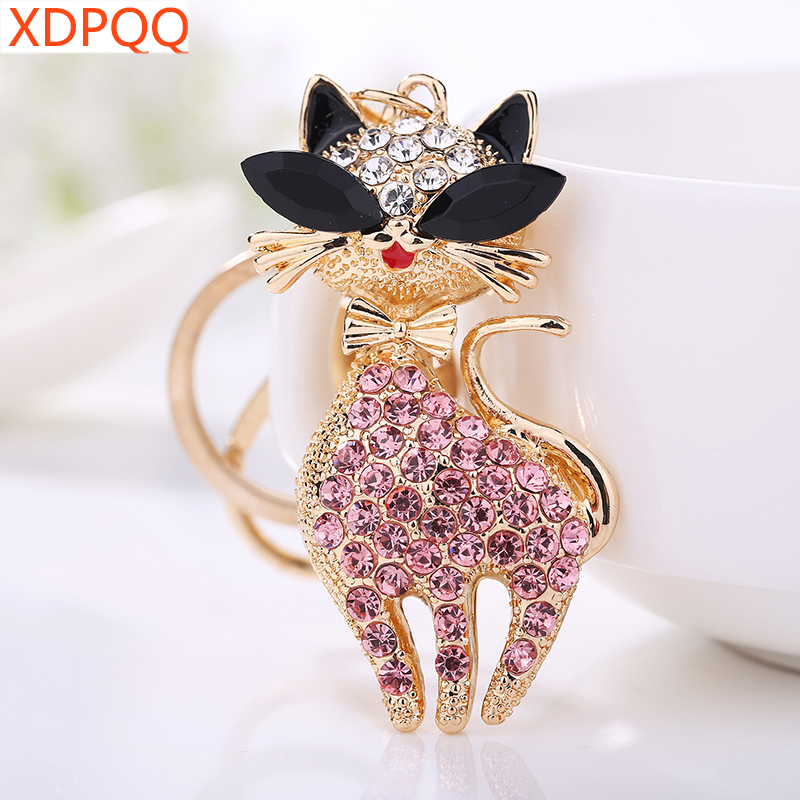 XDPQQ2018 Popular Jewelry New Key Chain Girl Jewelry Gift Cute Sexy Cat Keychain Holiday Small Gift Bag Pendant  Keyring