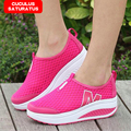Zapatos de moda Casual 2017 Nueva Primavera Mujer de Malla Transpirable Hombres Zapatos de Plataforma de Verano Las Mujeres Zapatos de Cuña 307
