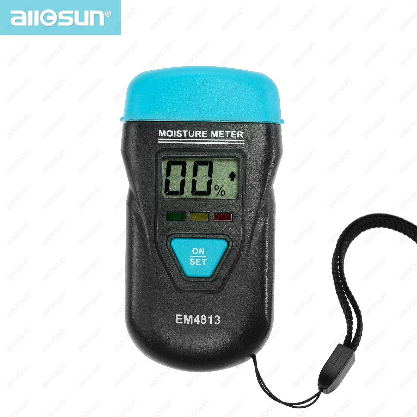 all-sun EM4813 Wood Building Material Moisture Meter Portable Environment temperature Tester Durable Moisture Meter