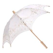 Hot Sale Lace Wooden handle  Sun umbrella Wedding decoration props