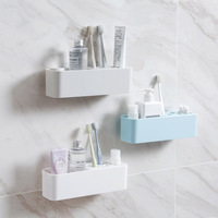 Wall suction toothbrush holder wash set wall hanging creative viscose storage box toothpaste toothbrush box racks