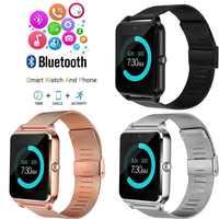 Pantalla táctil reloj inteligente Bluetooth deporte música Whatsapp smatr reloj para hombres mujeres multi-idioma reloj moderno masculino