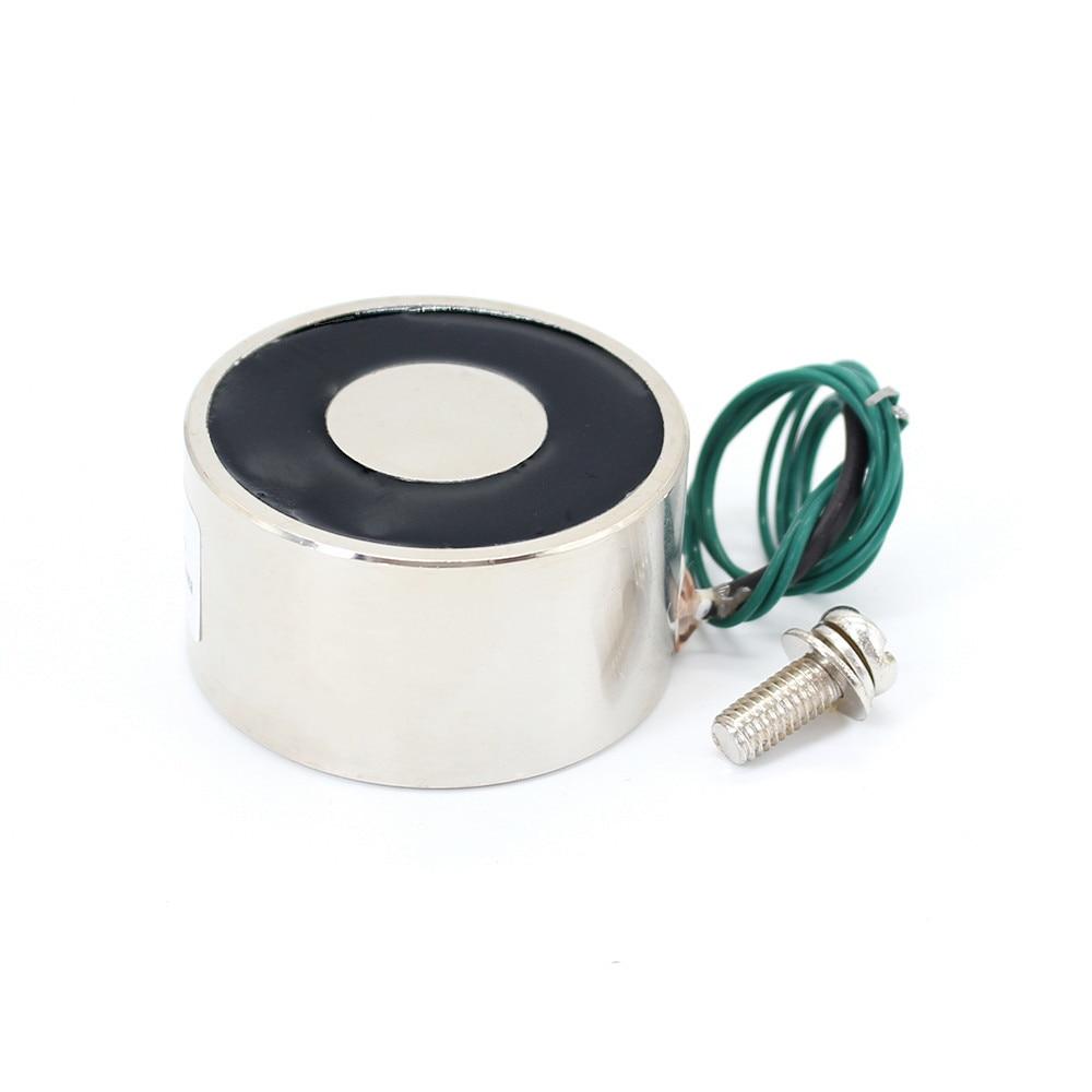 50*27 DC 6V 12V 24V Waterproof Energized Hold Electromagnet 80kg Sucker electric magnet coil portable lift powerful 12 solenoid dc 24v 1 2a 18mm 0 3kg pull electric solenoid electromagnet coil