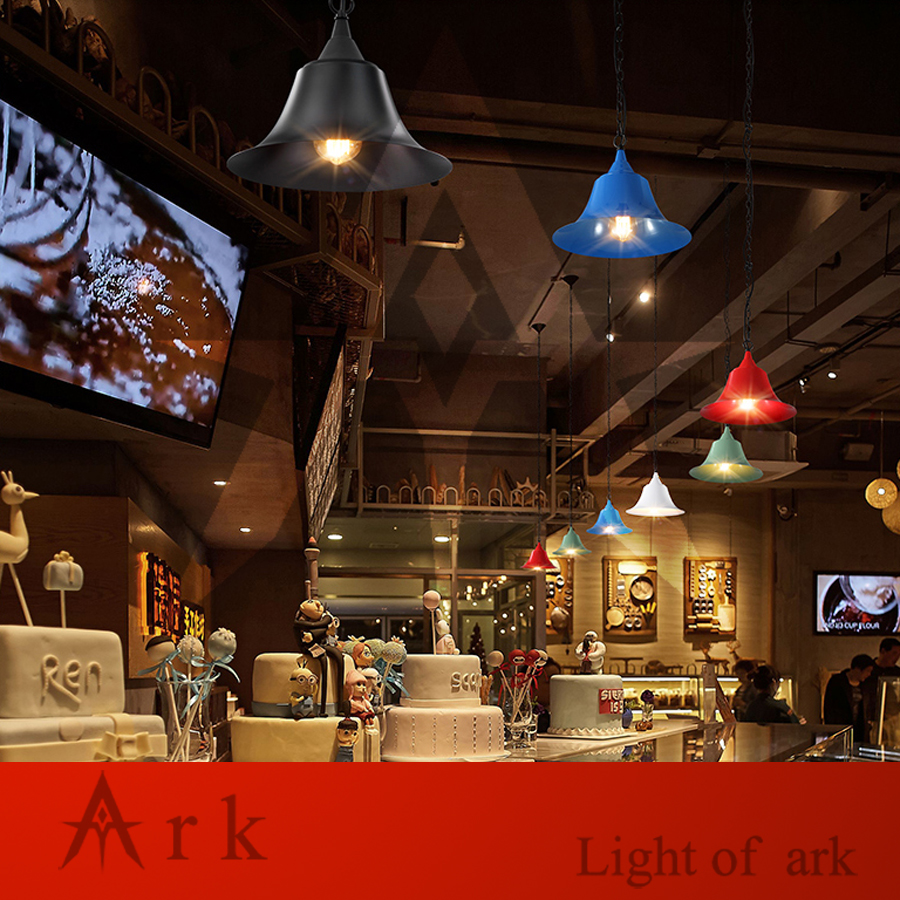 ARK LIGHT American vintage nostalgic pendant light black stair pendant light classical pendant light COFFEE HOUSE DINING ROOM