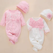 Newborn Baby Clothes Romper Unisex Set With Hat Baby Girl Rompers Autumn Fashion Cotton Baby Clothing 1 year Baby Birthday Gift-in Footies from Mother & Kids on expressjinni