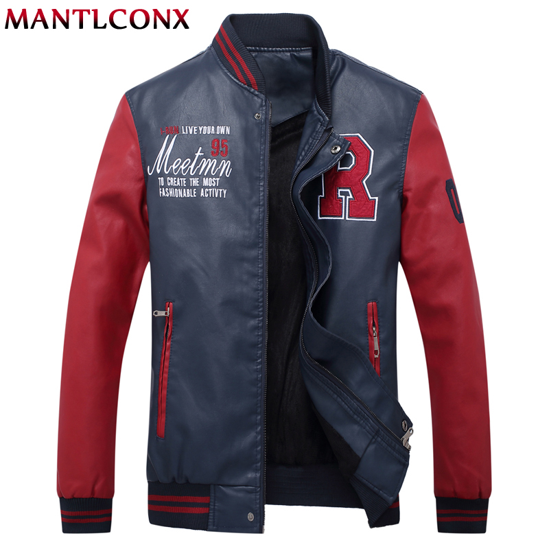 Mantlconx 2019 Men's Leather Jackets Men Jacket High Quality Classic Motorcycle Bike Baseball Jackets Men Spring Coats New Brand